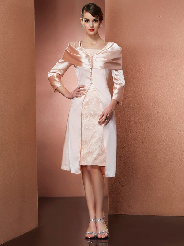 Elastic Woven Satin Long Sleeves Special Occasion Wrap