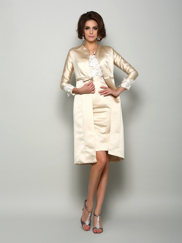 Satin Long Sleeves Applique Special Occasion Wrap