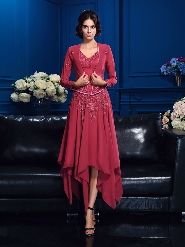 Chiffon Long Sleeves Applique Special Occasion Wrap