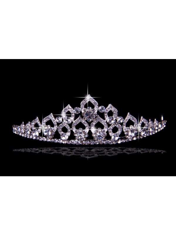 Glamorous Alloy With Czech Rhinestones Wedding Headpieces