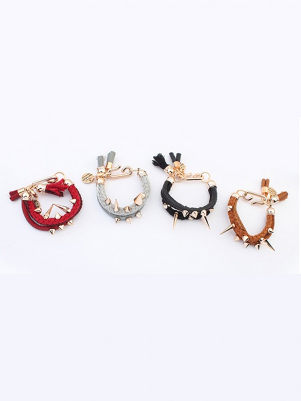 Occident Hyperbolic Personality Rivet Woven Hot Sale Bracelets