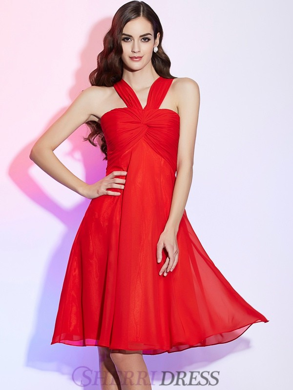 Red Red Bridesmaid Dresses - SherriDress