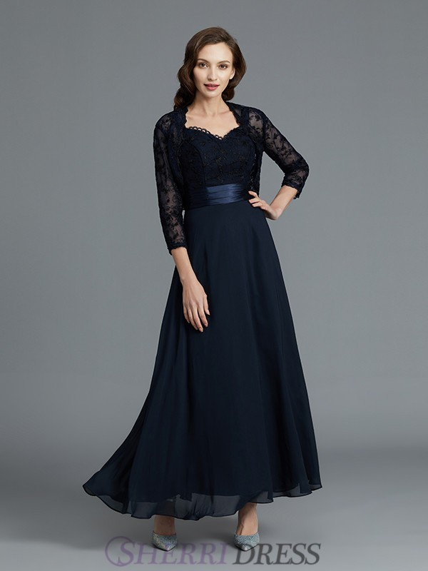 A-Line/Princess Sweetheart Chiffon Sleeveless Ankle-Length Mother of the Bride Dresses